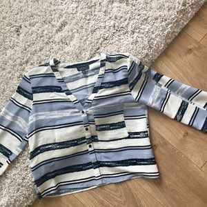 Cute Top Shop High Low Button Down Shirt (Size 4)
